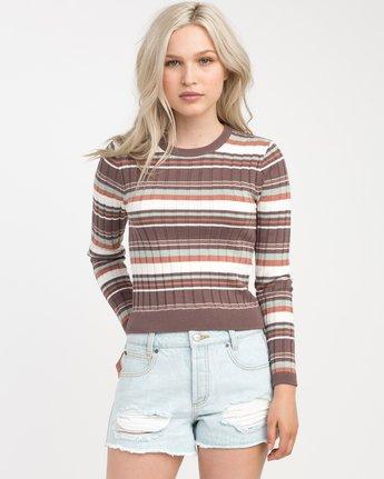 0 Sally Striped Knit Sweater  WV01NRSA RVCA