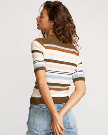3 Nora Striped Knit Sweater Multicolor WV01VRNO RVCA