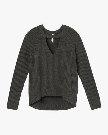 5 Case Knit Keyhole Sweater Grey WV02QRCA RVCA