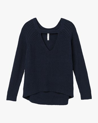 5 Case Knit Keyhole Sweater  WV02QRCA RVCA