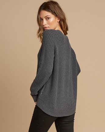 2 Case Knit Keyhole Sweater Grey WV02QRCA RVCA