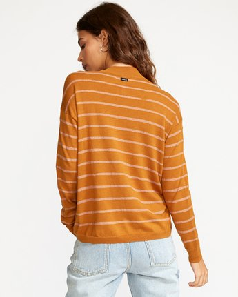 2 Tristan Striped Sweater Orange WV02VRTR RVCA