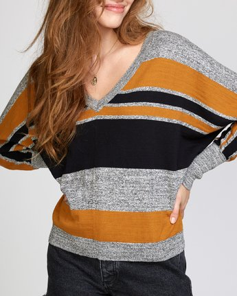 5 Carter Striped Sweater Orange WV03VRCA RVCA