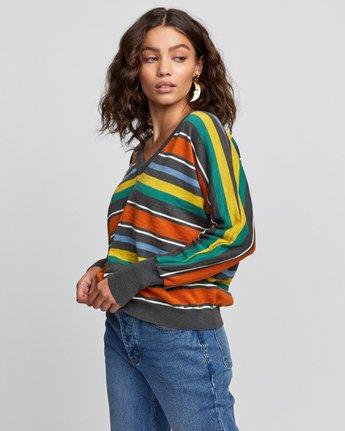 3 Carter Striped Sweater Grey WV03VRCA RVCA