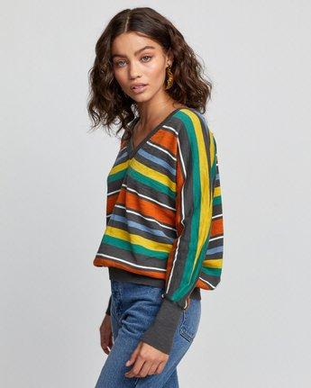 5 Carter Striped Sweater Grey WV03VRCA RVCA