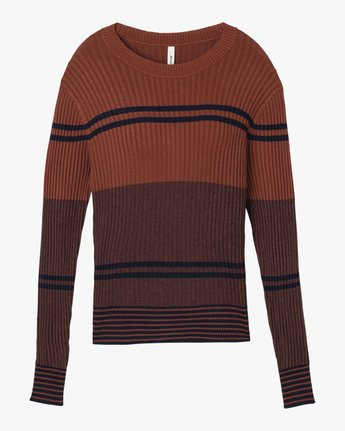 5 Even Striped Knit Sweater Blue WV04QREV RVCA