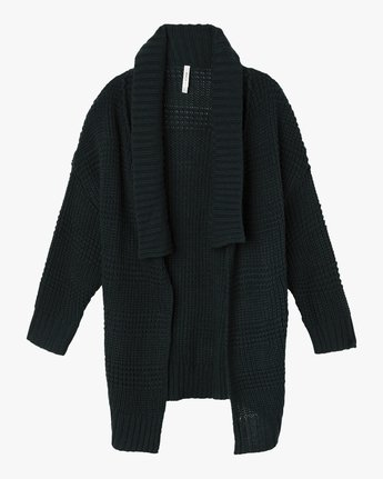 5 This Is It Oversized Knit Cardigan  WV04SRTH RVCA