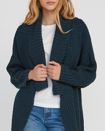 3 This Is It Oversized Knit Cardigan  WV04SRTH RVCA