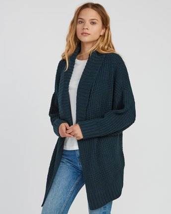 1 This Is It Oversized Knit Cardigan Grey WV04SRTH RVCA