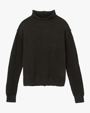 5 Exposed High Neck Sweater  Black WV05QREX RVCA