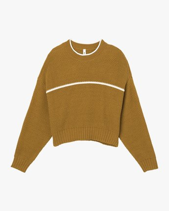 5 Jammer Cropped Knit Sweater  WV05SRJA RVCA
