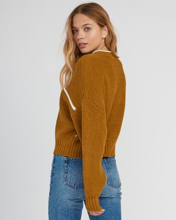 2 Jammer Cropped Knit Sweater  WV05SRJA RVCA
