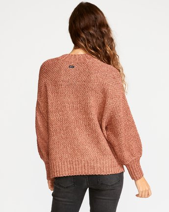 2 Volt Knit Mock Neck Sweater Brown WV05VRVO RVCA