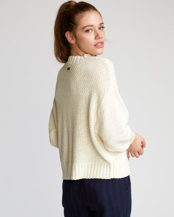 3 Volt Knit Mock Neck Sweater Beige WV05VRVO RVCA