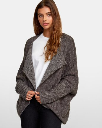 2 Stroke Open Knit Cardigan White WV05WRST RVCA