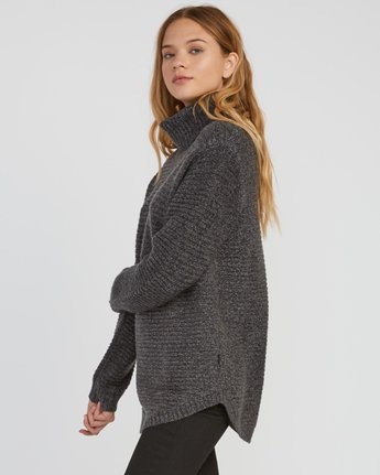 1 Jinx Knit Tunic Sweater Grey WV06SRJI RVCA