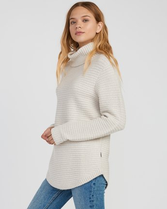 1 Jinx Knit Tunic Sweater Brown WV06SRJI RVCA