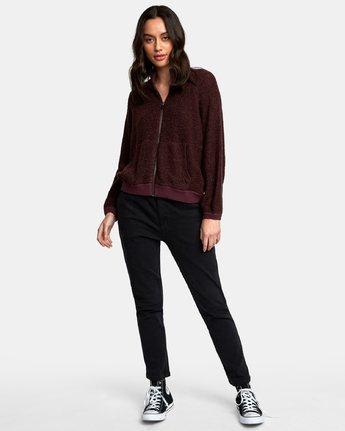 4 Erratic Zip-Up Knit Sweater Brown WV06WRER RVCA