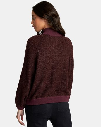 1 Erratic Zip-Up Knit Sweater  WV06WRER RVCA