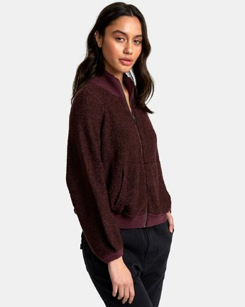 1 Erratic Zip-Up Knit Sweater Brown WV06WRER RVCA