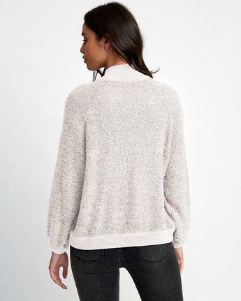 1 Erratic Zip-Up Knit Sweater Beige WV06WRER RVCA