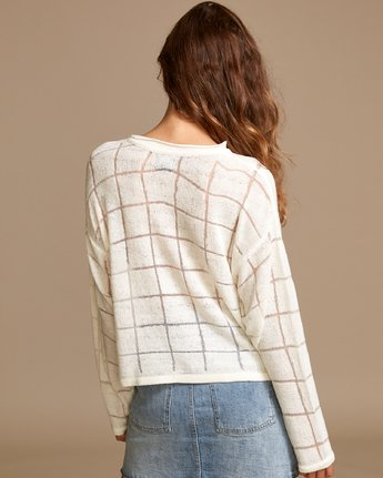 2 Range Lightweight Knit Sweater White WV07VRRA RVCA