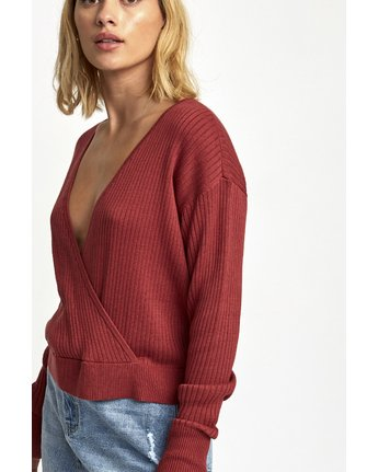 1 Pointed Surplice Sweater Brown WV07WRPO RVCA