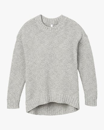 5 Zigged Knit Sweater Grey WV08QRZI RVCA