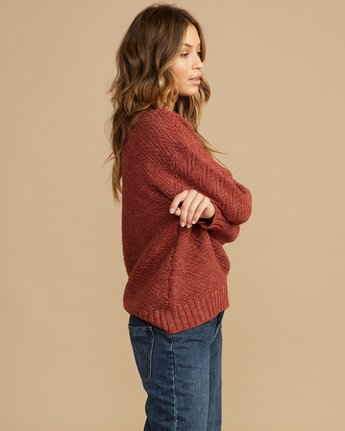 2 Zigged Knit Sweater Brown WV08QRZI RVCA