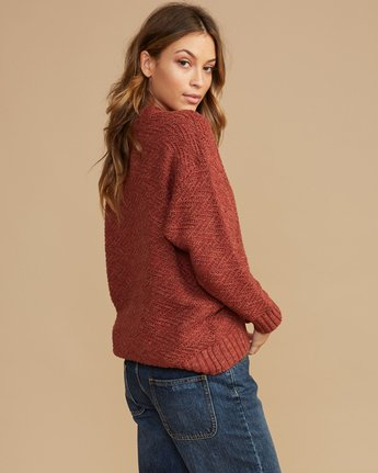 3 Zigged Knit Sweater Brown WV08QRZI RVCA
