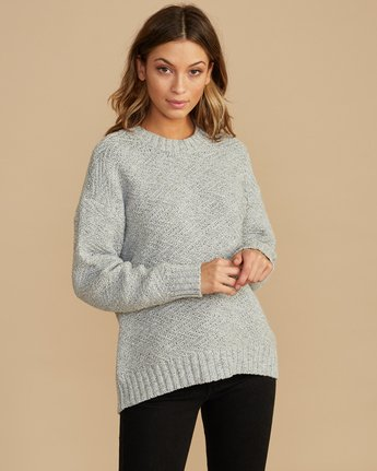 1 Zigged Knit Sweater Grey WV08QRZI RVCA