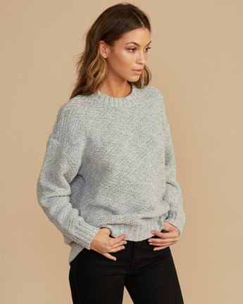 2 Zigged Knit Sweater Grey WV08QRZI RVCA