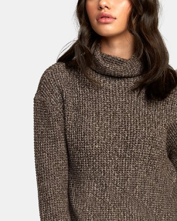 3 Roll It Knit Sweater Brown WV08WRRO RVCA