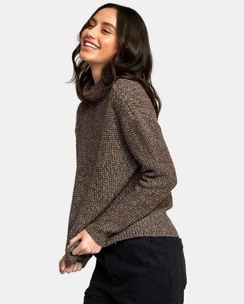 1 Roll It Knit Sweater Brown WV08WRRO RVCA