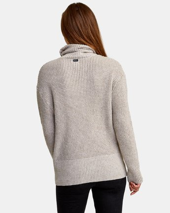 2 Roll It Knit Sweater Beige WV08WRRO RVCA