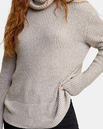 3 Roll It Knit Sweater Beige WV08WRRO RVCA