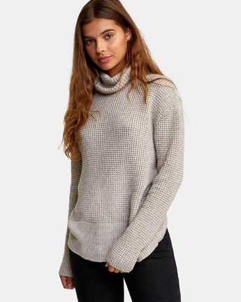 1 Roll It Knit Sweater Beige WV08WRRO RVCA