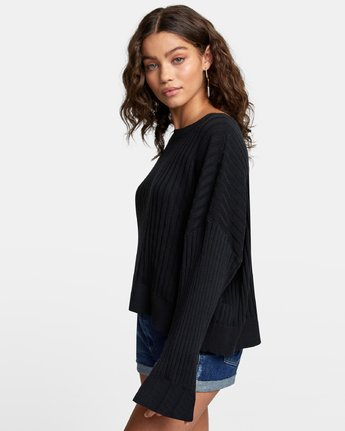 2 SYDNEY SWEATER Black WV093RSY RVCA