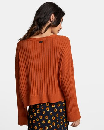 4 SYDNEY SWEATER Orange WV093RSY RVCA