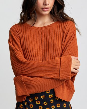 5 SYDNEY SWEATER Orange WV093RSY RVCA