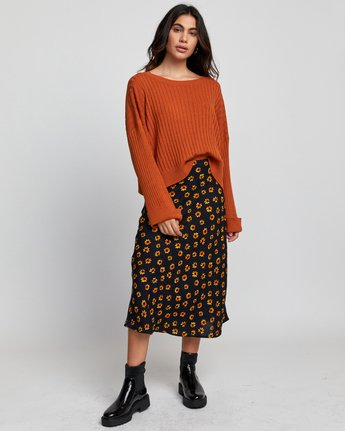 1 SYDNEY SWEATER Orange WV093RSY RVCA