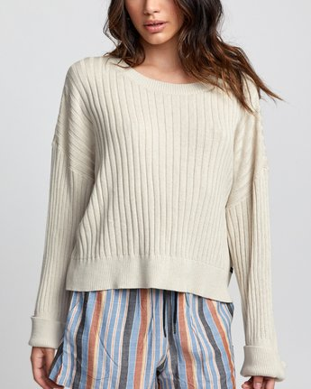 6 SYDNEY SWEATER Brown WV093RSY RVCA