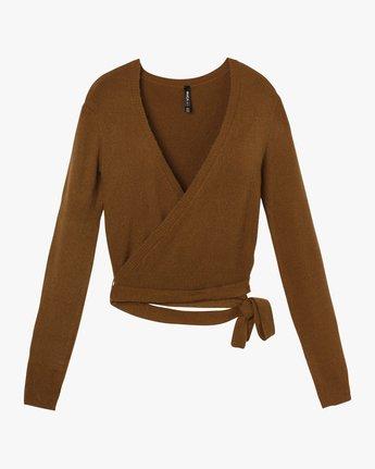 5 The Fuz Wrap Sweater Yellow WV10SRTF RVCA