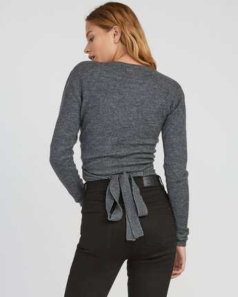 2 The Fuz Wrap Sweater Grey WV10SRTF RVCA