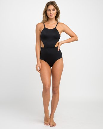 4 Solid One Piece Swimsuit Black X101NRSO RVCA