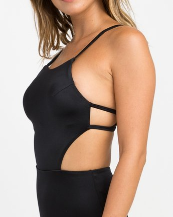 3 Solid One Piece Swimsuit Black X101NRSO RVCA