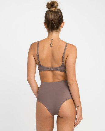 2 Solid One Piece Swimsuit Brown X101NRSO RVCA