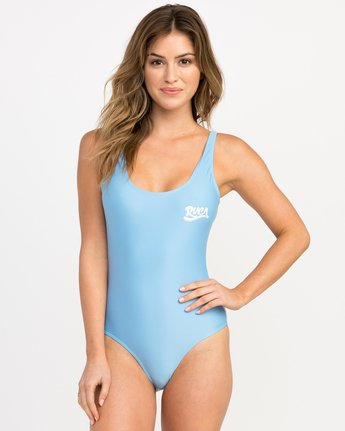 0 Shark One Piece Swimsuit Blue X102PRSO RVCA