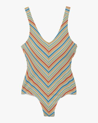5 Sixteenth St Striped One Piece Swimsuit Multicolor X104NRSO RVCA