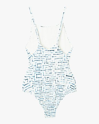6 Tie Dye Tile One Piece Swimsuit White X105PRTO RVCA